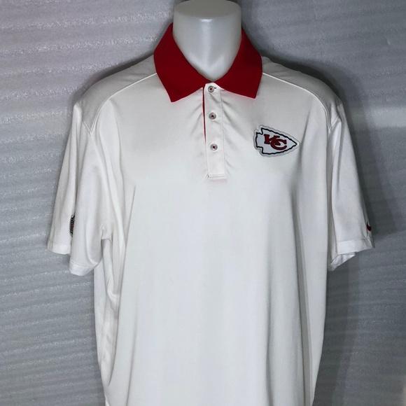 quality design c66b3 00b68 Nike Kansas City Chiefs - White Dri-Fit Polo Shirt